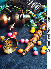 exotic hookah and bubble gum - vintage turkish hookah and...
