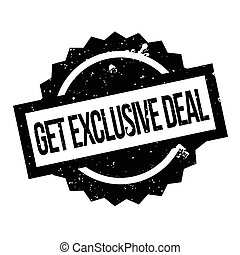 Get Exclusive Deal rubber stamp. Grunge design with dust...