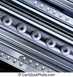 background with rivets - shining metal texture in...