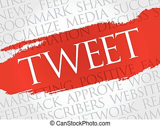 TWEET word cloud collage, business concept background