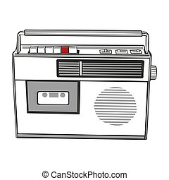 cassette player - fully editable vector illustration...
