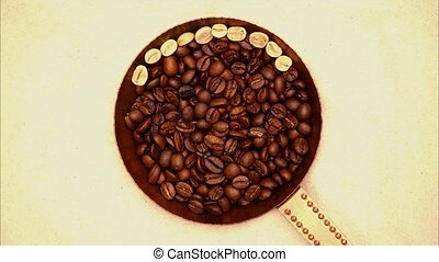 Stop motion animation letters add the word coffee - Stop...