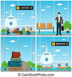 Airport, Arrival and Departure