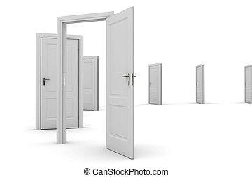 門,  -, 發現, 方式, 打開, 你