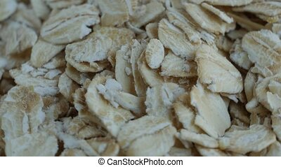 Oatmeal. Oat flakes. Close-up. - Oatmeal. Oat flakes...