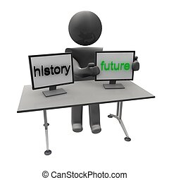 history future - people with text