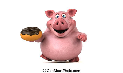 Fun pig running - 3D Animation