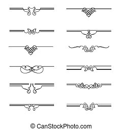 Vector Calligraphic page dividers