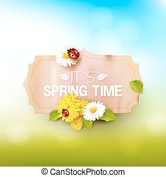 Spring time background - Its spring time. Spring background...