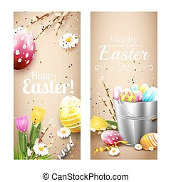 Easter vertical banners
