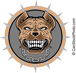 Pitbull stylized VECTOR logo