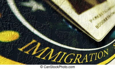 Immigration grunge concept