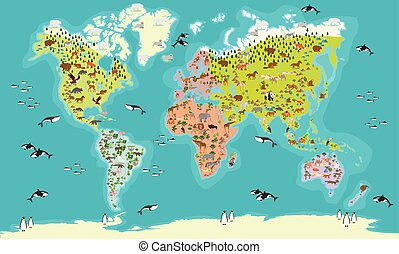 world map vector illustration - World Map highly detailed...