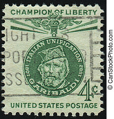 postmark - UNITED STATES - CIRCA 1960: stamp printed by...