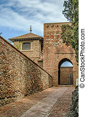 Alcazaba of Malaga, Spain - The Alcazaba is a palatial...