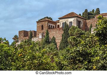 Alcazaba of Malaga, Spain - view of Alcazaba in Malaga,...
