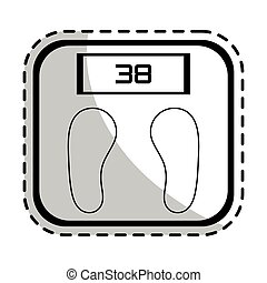 weight scale health icon image