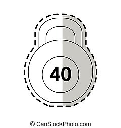 kettlebell weights icon image vector illustration design