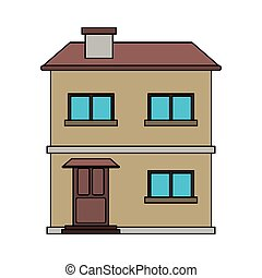 two story family house icon image