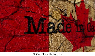 Made in Canada grunge concept
