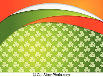St. Patrick Day background with Irish flag colors - St....