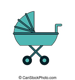 baby stroller icon image vector illustration design