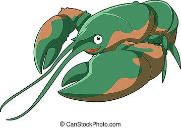 Cartoon smiling Lobster