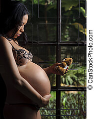 Teddy bear fun - Cute teddy bear and unborn baby become...