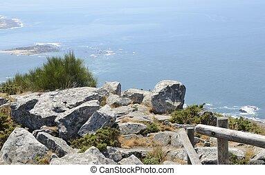 Rocks over the Atlantic Ocean - View of the Atlantic Ocean...