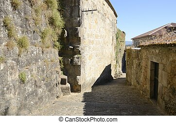 Stone path in Galician village - Stone path in the medieval...