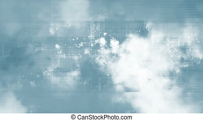 Blue and white geometric looping CG abstract background -...