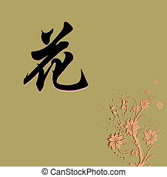 Chinese characters of FLOWER