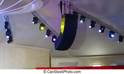 Professional Lighting Equipment For the Concert, the Light on the Stage, Lighting Devices