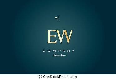ew e w gold golden luxury alphabet letter logo icon template...