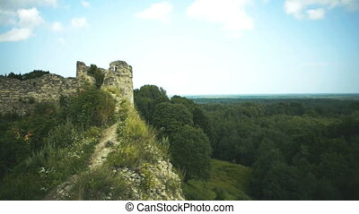 Ruins of a medieval fortress.