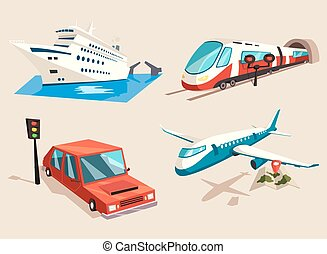 Airplane and train, car or automobile and train - Car or...