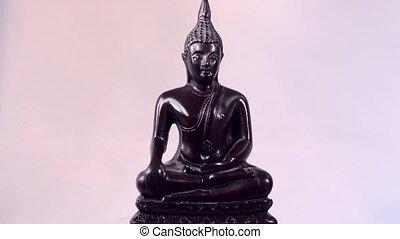 Sculpture of dark wooden Budha - Little dark wooden Budha...