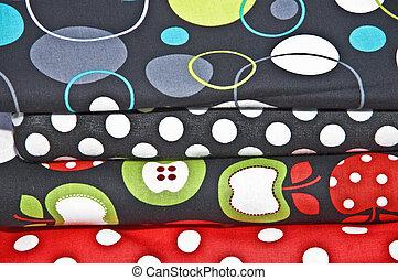 A Stack of Beautiful Fabrics