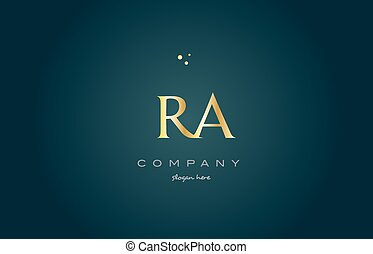 ra r q gold golden luxury alphabet letter logo icon template...