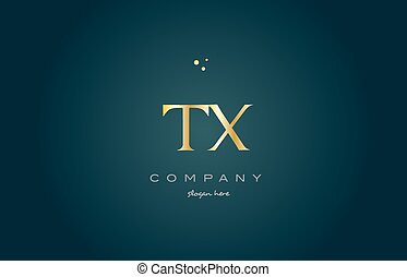 tx t x gold golden luxury alphabet letter logo icon template...
