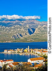 View of Town of Vinjerac with Velebit mountain Paklenica...