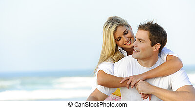 Beautiful young couple - attractive young couple are stress...