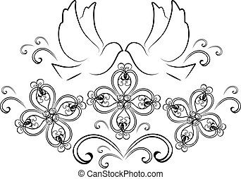doves with flourishes 2