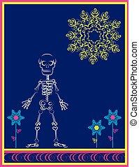 skeleton with flourishes