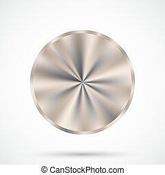 Steel round button.