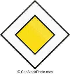 Cyprian regulatory road sign - Priority road.