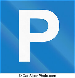 Cyprian regulatory road sign - parking place.