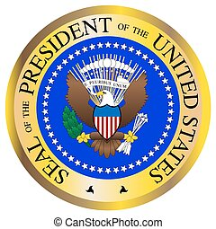 Presidential Seal - A Presidential seal design isolated on a...