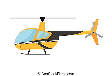 Yellow taxi helicopter vector illustration air transport...