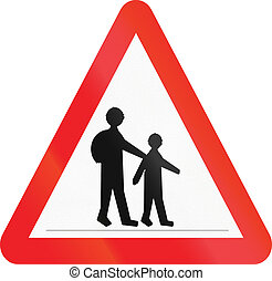 Cyprian warning road sign - children crossing